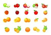 Apple et Orange Vector Graphic Set