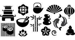 Japan Vector Set 2 Japan Vector Set Symbols Vector Tribal