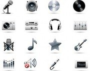 Stock Ilustrations Music Icon Set