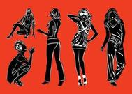 Fashion Models Silhouettes Pack