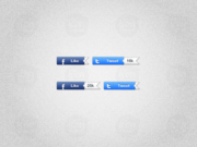 Sliding Twitter & Facebook Counter