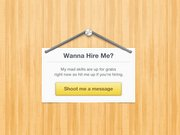 Cute Hire Me Sign (PSD)