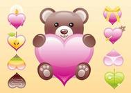 Cute Heart Vectors