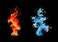 Cool water and fire material