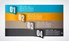 Free Colorful origami banner template