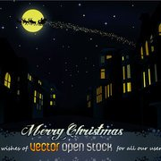 CHRISTMAS NIGHT IN THE CITY VECTOR.ai