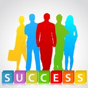 Success people silhouette