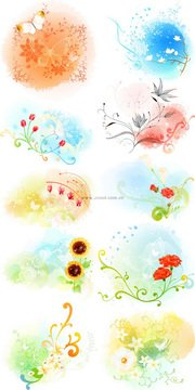 Exquisite floral series vector material - 3 Series (10P)