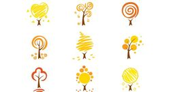 Simple Autumn Trees Vector Nature Simple Autumn