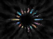 Colorful Radial Mosaic Background
