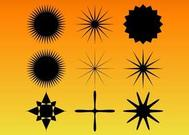 Star Burst Vector Set