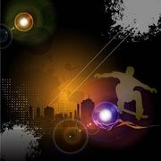 Glowing Urban Night Skateboard Background