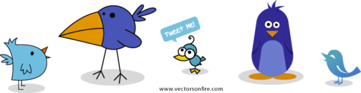 Twitter Birds Set (6 Icons)