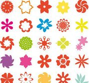 Flower shape collection
