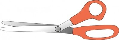 Scissors Slightly Open