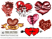 Gratis Valentinstag Love Heart Vector Set-3