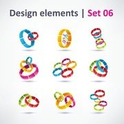 Exquisite Threedimensional Color Logo 01