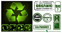 Green Logo green icon vector material with nostalgia