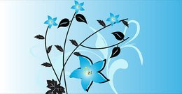 Free Vector Background Flowers