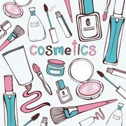 Cosmetics Handpainted