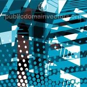 BLUE HALFTONE AND GRUNGE VECTOR.eps