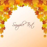 Autumn Leaf Frame Template