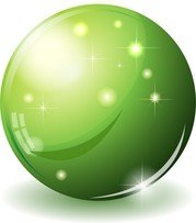 Glass Sphere Green