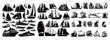 A variety of sailing ship silhouette