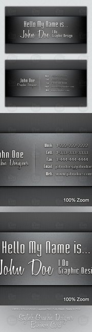 Stylish Graphic Designer Business Card