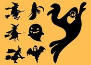 Ghosts And Witches Silhouettes