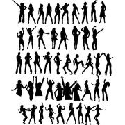 DANCER SILHOUETTES VECTOR SET.eps