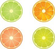 Tranches de citron vert et Orange
