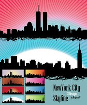 Vecteur libre Set : 12 Silhouettes de Skyline de New York City