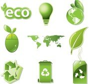 Vector Set van globale Eco