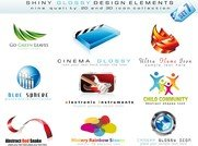 3D Style Logo Template Vector Nonoriginal Works
