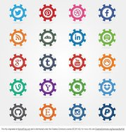 Social Poker Chips Vector Icons