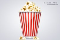 Popcorn Box Icon (PSD)