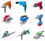 Electric Tools Vector Set