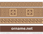 Gratis vector Griekse ornament - meander