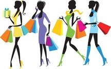 Fashion Shopping Girls Illustration