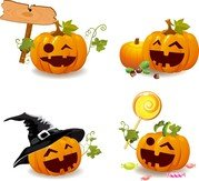 Smile And Happy Halloween Pumpkins