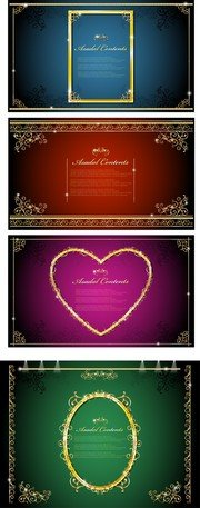 Gorgeous Gold Lace Border Vector 1