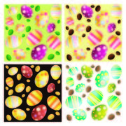4 Seamless Easter Egg Backgrounds