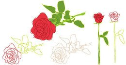 Free Vector Rose Clipart