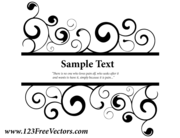 Vector Ornate Swirl Banner
