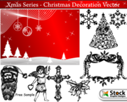 Banner & Hand Drawn Xmas Decoration Pack