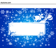 Snowy & Ornamental Xmas Card