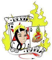 Poker and flame element