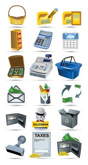Vector pictogram Shopping betaling