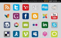 Rubber Social Media Icons